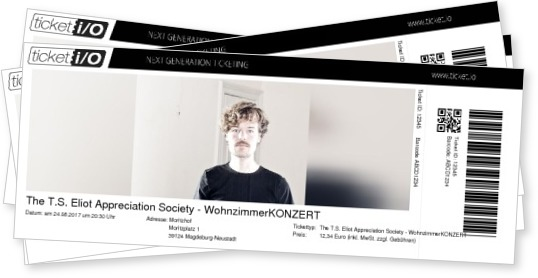 Tickets Fr The TS Eliot Appreciation Society Turn It Golden